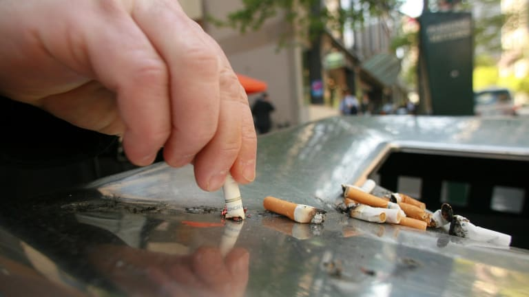 """NSW Health says that its inspectors have detected increased sales of illicit tobacco, which is packaged without health warnings and is sometimes blatantly labelled """"illegal tobacco""""."""