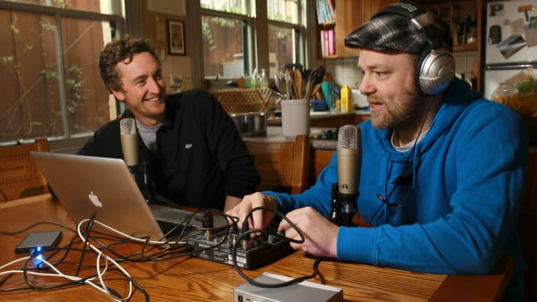 Comedians and podcasters Declan Fay and Nick Maxwell of the The Sweetest Plum Podcast.