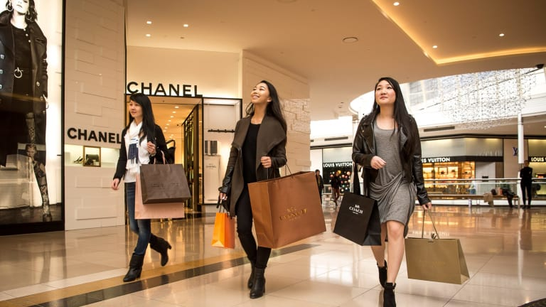 Chadstone Shopping centre: luxury sales are booming in Australia, driven by young, affluent Asian tourists and residents.