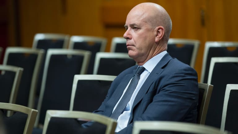 Fairfax Media chief executive officer Greg Hywood prior to speaking at a parliamentary inquiry into the future of Australian media.