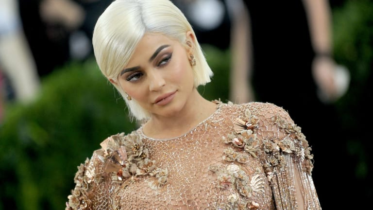 Kylie Jenner during one her last public appearances at the Met Gala.