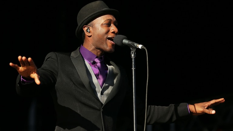He's the man: Aloe Blacc performing at Soulfest.