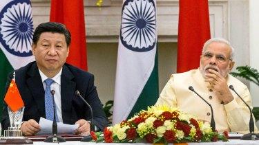 Narendra Modi, India's prime minister, right, and Xi Jinping, China's president.