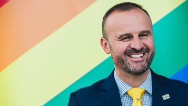 ACT Chief Minister Andrew Barr has publicly backed the 'yes' campaign.