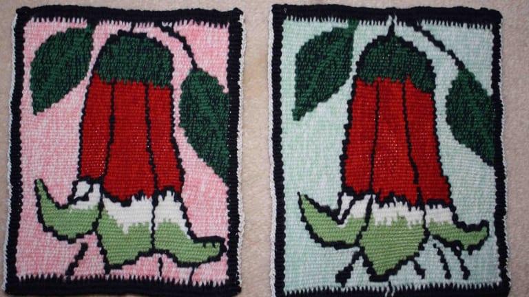 Lisa Molvig's tapestry-woven Canberra centenary Correas.