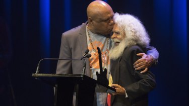 Jack Charles' induction of Archie Roach was funny, pithy and passionate.