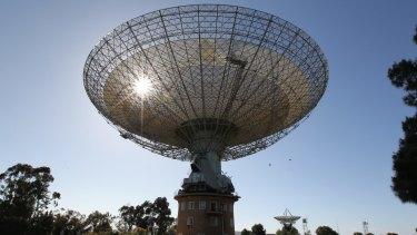 The CSIRO radio telescope in Parkes, NSW.