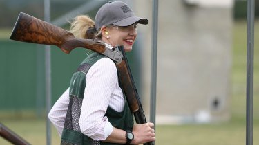 Senator McKenzie pictured at the Canberra International Clay Target Club.