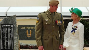Governor-General Quentin Bryce talks with Corporal Ben Roberts-Smith after awarding him the Victoria Cross in January 2011.