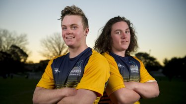 Ryan Lonergan and brother Lachlan were part of a five-strong Canberra contingent picked in the Australian schoolboys team.