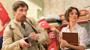 Christian Bale and Charlotte Le Bon play two sides of a love triangle in <i>The Promise</I>.