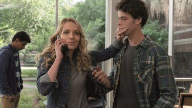 Jessica Rothe with Israel Broussard, who plays Carter Davis.