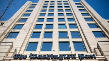 One Franklin Square Building in Washington, which houses <i>The Washington Post</i>.