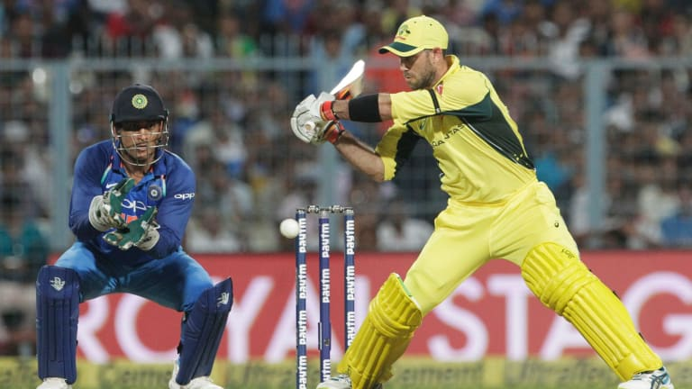 On the outer: Glenn Maxwell played for Australia against India in September but has been dropped from the ODI squad.