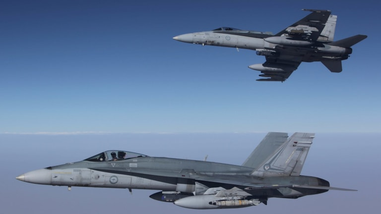 RAAF F/A-18A Hornets have dropped more than 500 bombs since they began an air campaign against Islamic State last year.