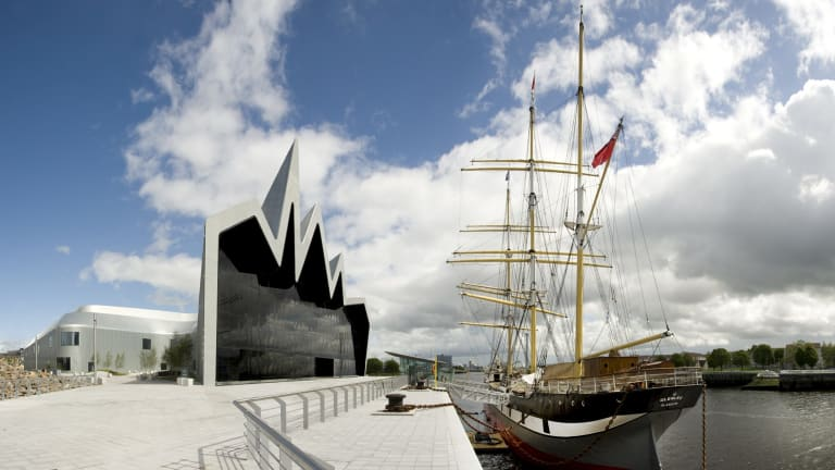 The Zaha Hadid-designed Riverside Museum in Glasgow.