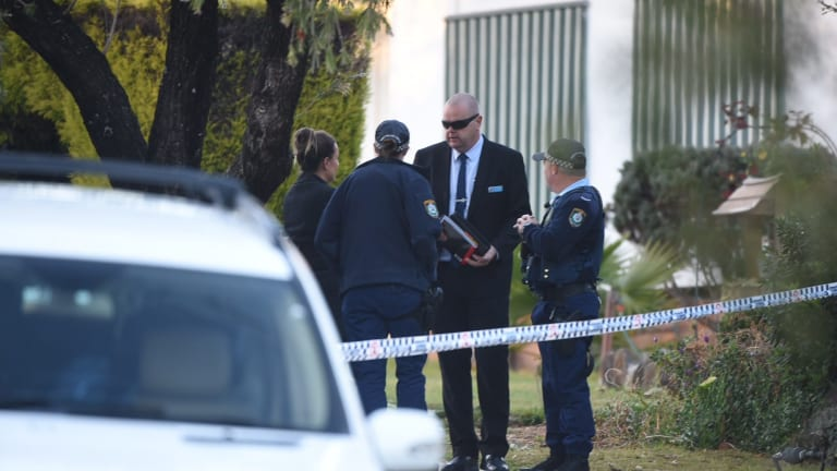 Detectives remained at the Lalor Park house on Monday morning.