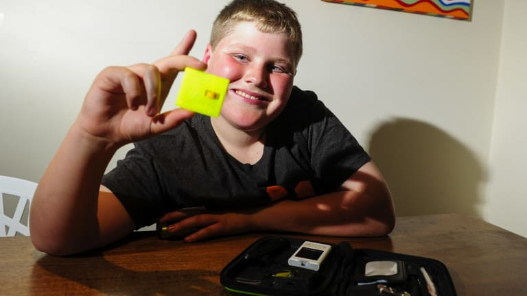 St Edmund's College year 5 student William Grame, 11, has designed a test strip remover unit that fits into a diabetic'€™s testing kit as part of the littleBIGidea contest.