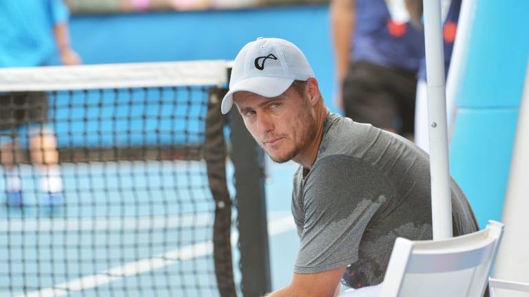 Lleyton Hewitt at his final tournament, the 2016 Australian Open.