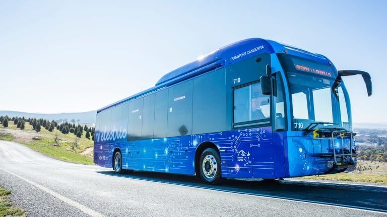 The ACT Government and Transport Canberra launch show off the new electric and hybrid buses to be trialled over the next 12 months.
