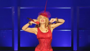 Kylie Minogue performs live for fans on March 20, 2015 in Sydney, Australia.