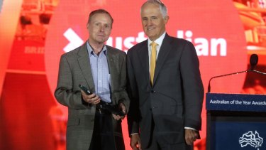 Australian of the Year Lieutenant-General David Morrison with Prime Minister Malcolm Turnbull.