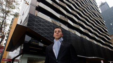 David Jager, a resident of Aura Apartments on Flinders Street.