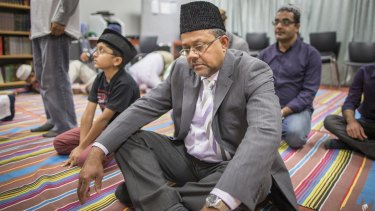 Mohammad Hasan at a weekly prayer session in the Griffin Centre in Civic.