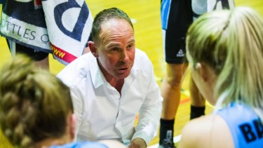 Capitals coach Paul Goriss.