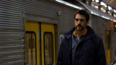 Dean Kyrwood stars as John, a train driver dealing with the after effects of hitting a man on the tracks, in Tim Russell's short film <i>The Driver</i>.