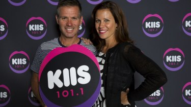 Matt Tilley and Jane Hall host KIIS FM's breakfast program.