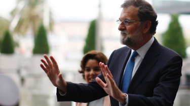 Spanish Prime Minister Mariano Rajoy in Barcelona earlier this month.