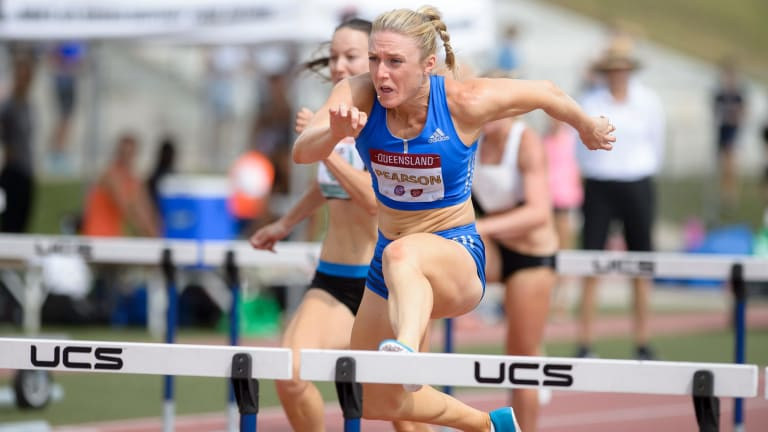While disappointed with her run, Sally Pearson said it wasn't a setback and there was plenty of time before she peaks at the Comm Games.