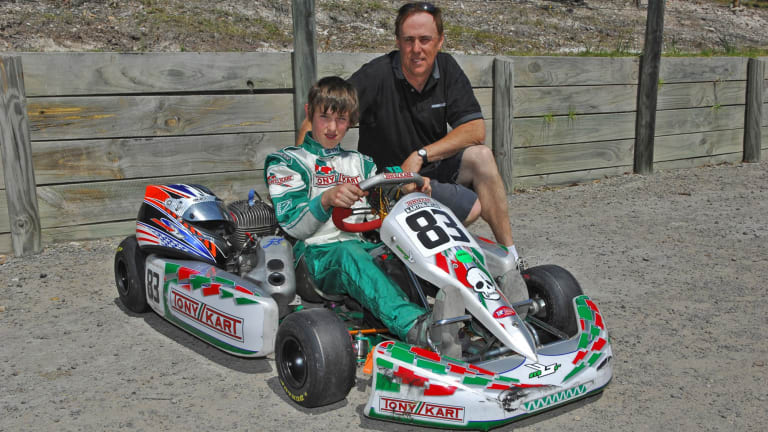 Third gen: Geoff Brabham with then-13-year-old son Matthew.