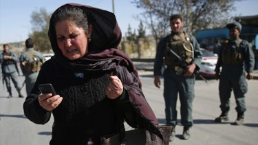 A mother tries to call her daughter who is stuck inside the Shamshad TV building after the deadly attack.