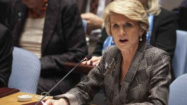 Julie Bishop: Cuts to foreign aid will be Labor's fault.