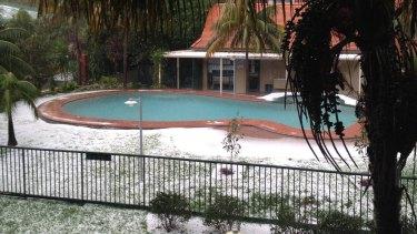 A pool in Alexandria looking more like it belongs at a ski resort.