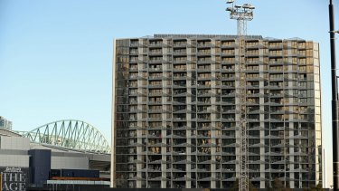 The Lacrosse building in Melbourne's Docklands was hit by fire in 2014.