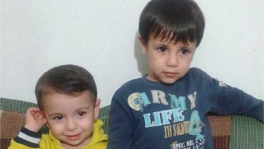 Aylan Kurdi, left, and his brother Galip.