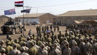 Australian and New Zealand personnel at the Taji Military Complex, Iraq.
