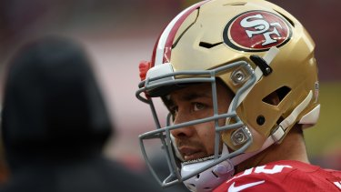 Staying put: Jarryd Hayne has survived the first cut of Chip Kelly's San Francisco 49ers.