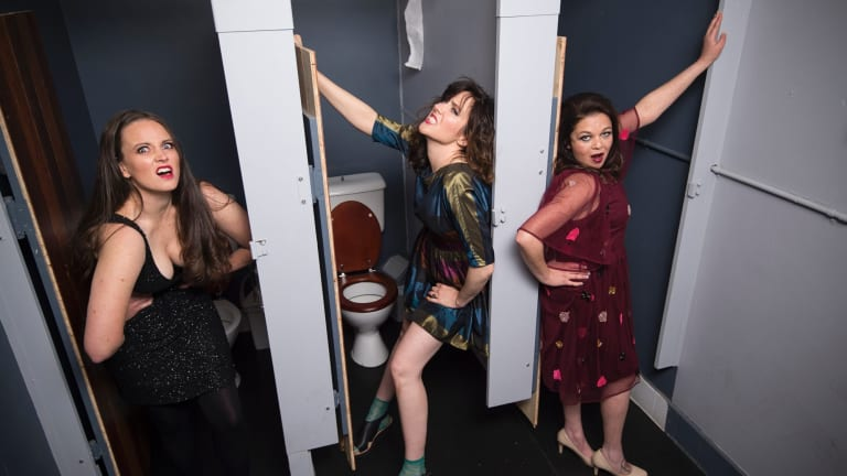 Ich Nibber Dibber gives grand significance to the ordinary details of women's lives.  From left, Zoe Coombs Marr, Mish Grigor and Natalie Rose.