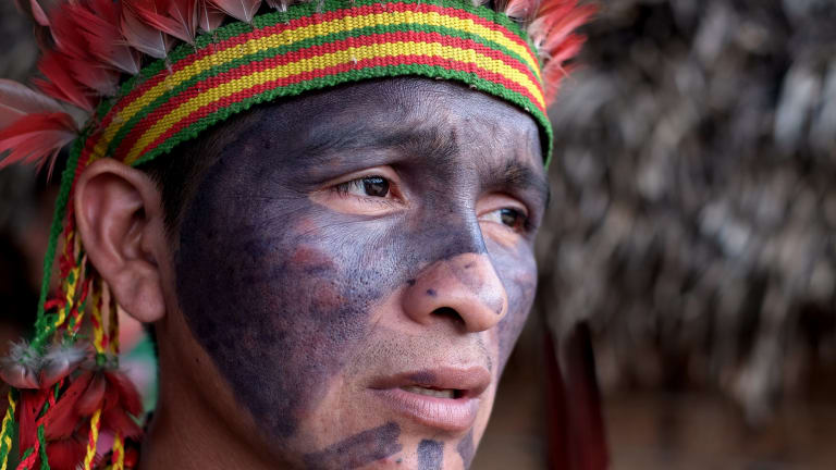 The Chief of Awa Village in the Amazon, Itatxi Awa.