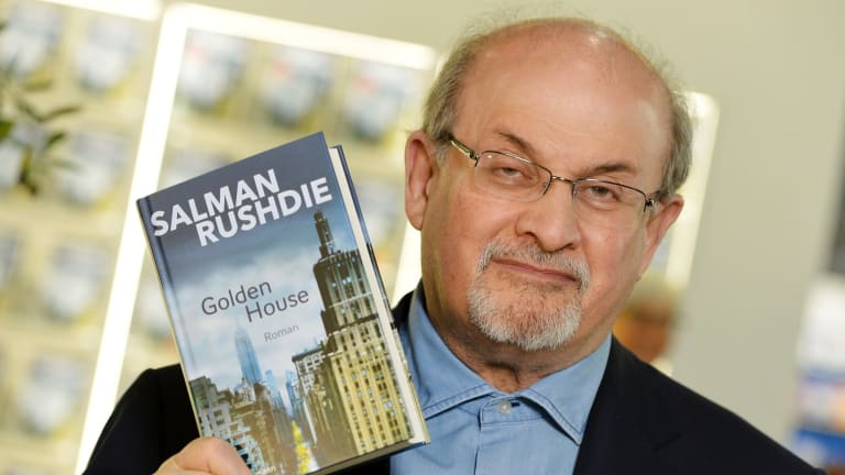Author Salman Rushdie, who once called religion a 'poison in the blood', was to be the headline act at the Global Atheist Convention in February.