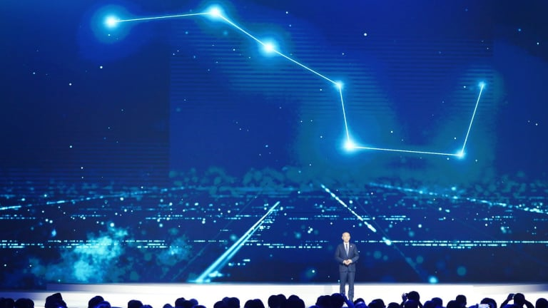 Ran Chengqi, director of the China Satellite Navigation Office, introduces the BeiDou Navigation Satellite System in Wuzhen in December.