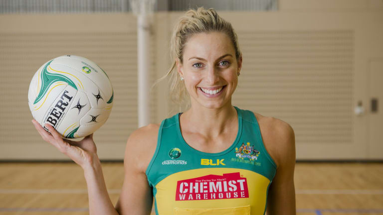 Games chance: Former Diamonds captain Laura Geitz gave birth to her first child in February.
