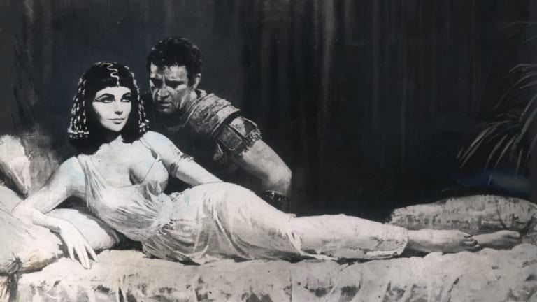 Elizabeth Taylor and Richard Burton in a scene from 1963's