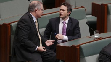 Improving relations: Scott Morrison and Jason Clare are both friends and political adversaries.