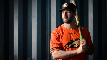 Canberra Cavalry outfielder Ryan Kalish is looking to relaunch his MLB career.