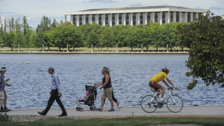 Canberra has been crowned Australia's most active place. Residents  have the highest participation exercise and cultural activities. Lunchtime participants on the shores of Lake Burley Griffin.